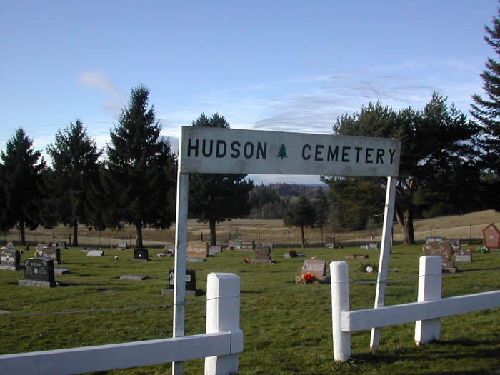 Hudson Cemetery, Columbia County, Oregon.